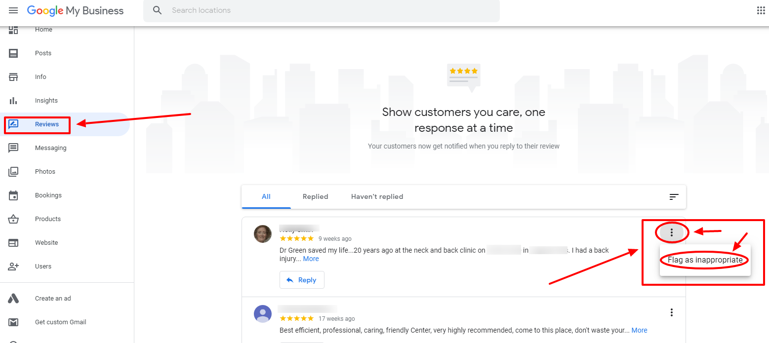 Flag A fake Google Review for a local business