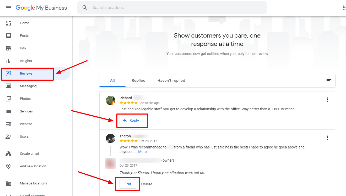 Reply to Google reviews for your local business